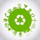Concepto verde del ambiente ECO ilustración del vector