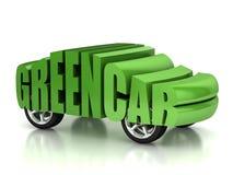 Concepto verde del coche 3d Imagen de archivo libre de regalías