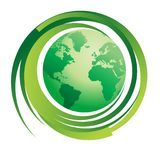 Concepto verde del mundo Imagen de archivo libre de regalías