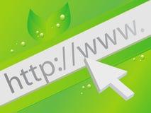 Concepto verde del Web Fotografía de archivo libre de regalías