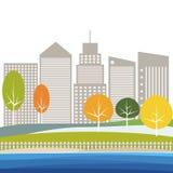 Concepto verde moderno de la ciudad Imagenes de archivo