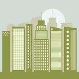 Concepto verde moderno de la ciudad Fotos de archivo libres de regalías