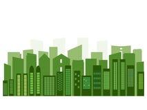 Concepto verde moderno de la ciudad Fotografía de archivo libre de regalías