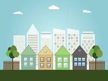 Concepto verde moderno de la ciudad Fotografía de archivo