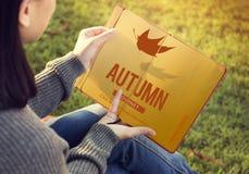 Concepto vibrante de la estación de Autumn Fall Foliage Fresh Nature Fotos de archivo libres de regalías