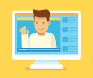 Concepto video del blogger ilustración del vector