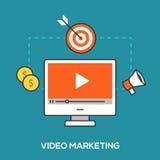 Concepto video del márketing Fotografía de archivo libre de regalías