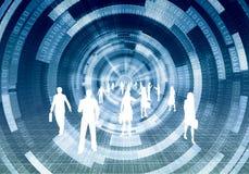 Concepto virtual del negocio Fotografía de archivo