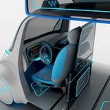Conceptontwerp van het stads universele elektrische voertuig 3D Illustratie Royalty-vrije Stock Afbeelding