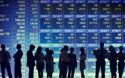 Conceptos comerciales del mercado de bolsa de acción Foto de archivo