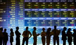 Conceptos comerciales del mercado de bolsa de acción Foto de archivo libre de regalías