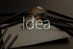 Conceptos creativos de la escritura Fotos de archivo