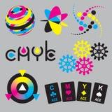Conceptos de CMYK y elementos del diseño libre illustration