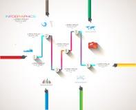 Conceptos de diseño planos de UI para el infographics único Foto de archivo libre de regalías