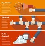 Conceptos de diseño planos para el negocio, vector Fotos de archivo