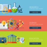 Conceptos de diseño planos para la investigación, ciencia stock de ilustración