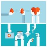 Conceptos de diseño planos para la transfusión de sangre y el MED