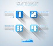Conceptos de dise?o planos de UI para el infographics ?nico Fotos de archivo