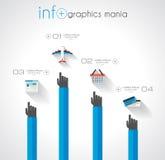 Conceptos de dise?o planos de UI para el infographics ?nico Foto de archivo