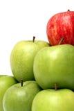 Conceptos de la dominación con las manzanas Imágenes de archivo libres de regalías