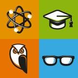 Conceptos de la educación del vector en estilo plano del esquema Imagen de archivo
