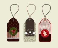 Conceptos de la etiqueta engomada de la Navidad Imagenes de archivo