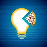 Conceptos de la idea de bombilla Imagenes de archivo