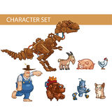 Conceptos de los caracteres del juego, ejemplo Fotos de archivo libres de regalías