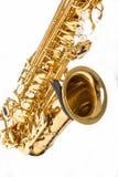 Conceptos de los instrumentos musicales Opinión parcial Alto Saxophone Iso fotos de archivo libres de regalías
