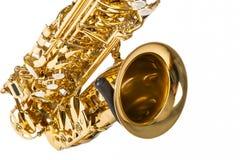 Conceptos de los instrumentos musicales Primer de Alto Saxophone Isolated fotografía de archivo libre de regalías