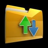 Conceptos de transferencia de la fecha. Imágenes de archivo libres de regalías
