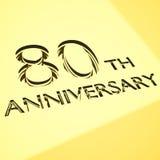 Conceptos del aniversario Imagen de archivo libre de regalías