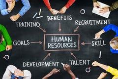 Conceptos del grupo de personas y de los recursos humanos Imagen de archivo libre de regalías