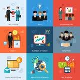 Conceptos del negocio fijados Imagen de archivo