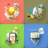 Conceptos del negocio, iconos del vector ilustración del vector