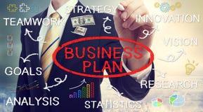 Conceptos del plan empresarial del dibujo del hombre de negocios Fotografía de archivo libre de regalías