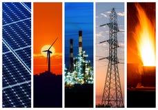 Conceptos del poder y de la energía Fotos de archivo libres de regalías