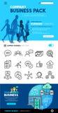 Conceptos e iconos del negocio Fotografía de archivo