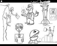 Conceptos e ideas de la historieta del negocio fijados Fotos de archivo libres de regalías