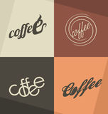Conceptos e ideas del logotipo del café Fotografía de archivo