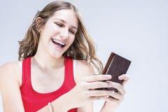Conceptos e ideas dentales Adolescente femenino caucásico con los soportes de los dientes Imagen de archivo libre de regalías