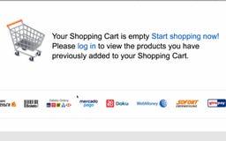 Conceptos en línea de la tienda de las compras o de Internet con almacen de metraje de vídeo