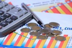 Conceptos financieros Imágenes de archivo libres de regalías