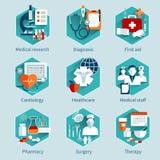 Conceptos médicos fijados Imagen de archivo libre de regalías