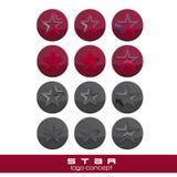 Conceptos modernos del logotipo de la estrella Imágenes de archivo libres de regalías