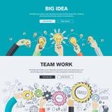 Conceptos planos del ejemplo del diseño para el negocio y el márketing Foto de archivo libre de regalías