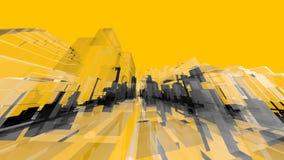 Conceptos y fondos amarillos de la creatividad de la arquitectura de Wireframe Imágenes de archivo libres de regalías