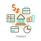 Concepts of bank Stock Photography