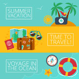 Concepts and banners  of travel, summer Stock Photography