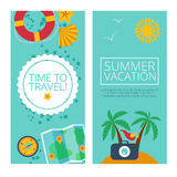 Concepts and banners  of travel, summer Royalty Free Stock Photos